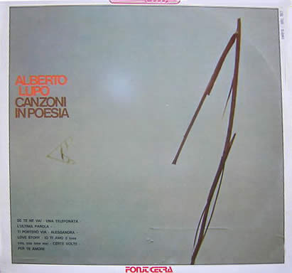 Alberto Lupo - Canzoni In Poesia